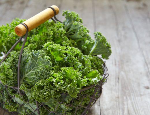A basket of Kale