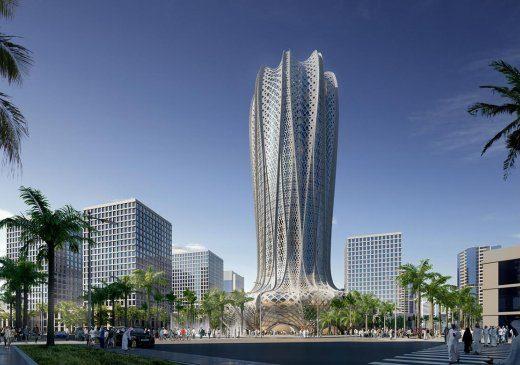 Design Zaha Hadid Tower in Qatar