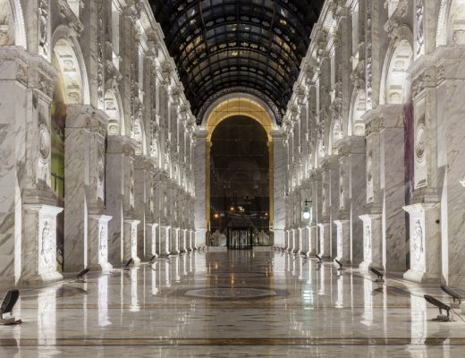 Inside Alhazm Mall in Qatar, named one of the coolest and most cultured malls in the world by the New York Times