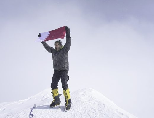 Sheikh Mohammed bin Abdullah Al Thani at the top of Denali, the first Qatari to reach the seven summits - Qatar Foundation