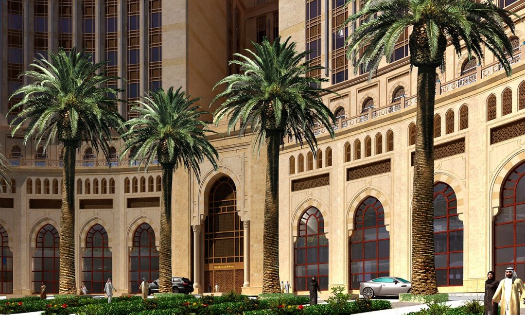 Entrance design of Abraj Kudai which will be the world's largest hotel located in Mecca