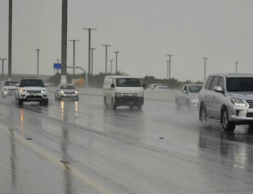 Early winter rain on Airport road, The Peninsula - Photo by Abdul Basit