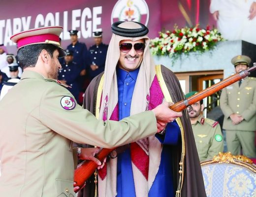 Under the patronage of the Ruler of Qatar, Emir Sheikh Tamim bin Hamad Al-Thani, Ahmed bin Mohammed Military College just graduated its 12th class of officer cadets
