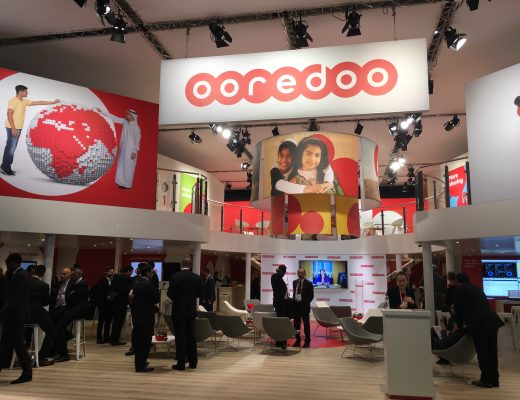 The Ooredoo pavilion at the Mobile World Congress 2017, Barcelona