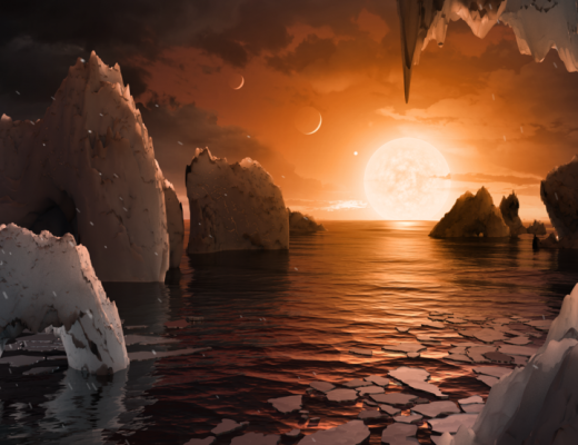 The possible surface of TRAPPIST-1f, one of the newly discovered planets in the TRAPPIST-1 system - Credits NASA / JPL-Caltech