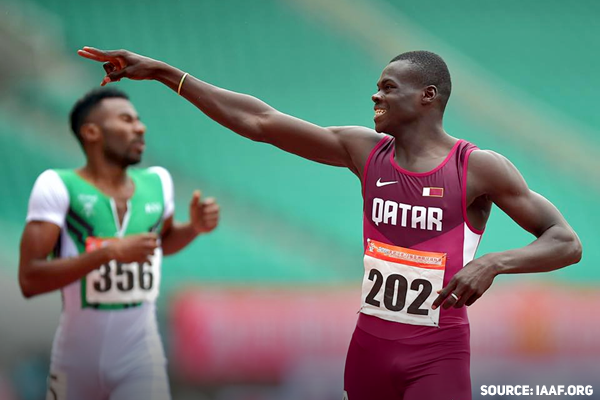 Abdalelah Haroun, Qatar, took home bronze medal at the 400M event at the IAAF World Championships in London