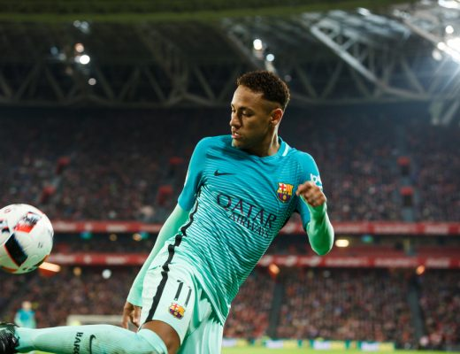 Brazilian Neymar singed with French Paris Saint-Germain, club owned by Qatar sports investment