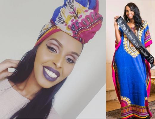 Muslim Model Muna Jama ditched the bikini for a kaftan at Miss Universe GB