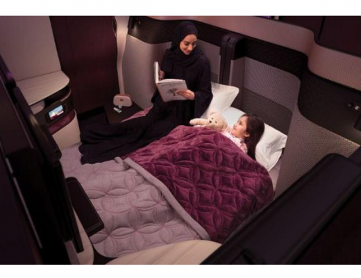 Qatar Airways business class introduce first inflight double bed