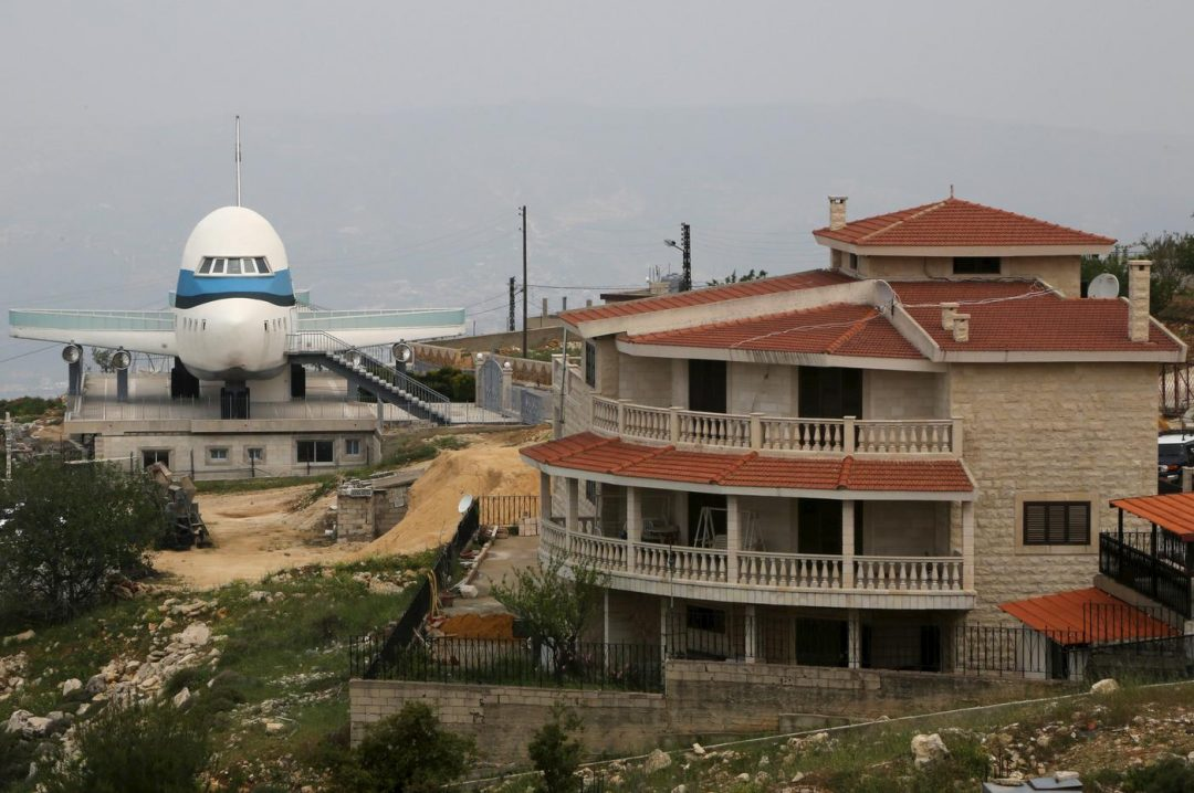 Airplane house, Miziara, is one of the weird buildings in Lebanon. Aziz Taher/Reuters/Metro