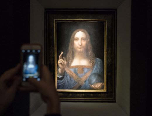 Salvator Mundi by Leonardo da Vinci sold for $400m at Christie's New York auction house, Drew Angerer, Getty Images