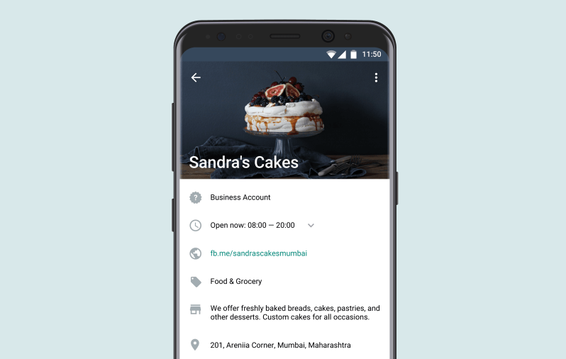 create a profile for your business with the whatsapp business app