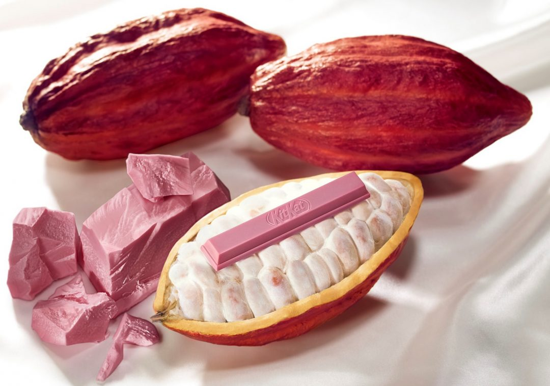 have a ruby kitkat from kitkat chocolatory, by Nestlé japan and barry callebaut