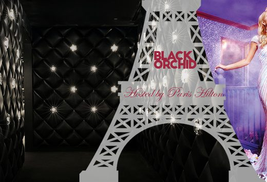 party with paris hilton at the black orchid night club, mondrian doha