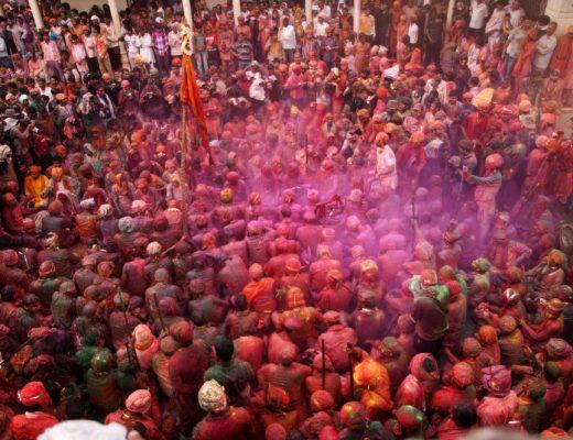 Lath mar Holi, the Hindu stick festival