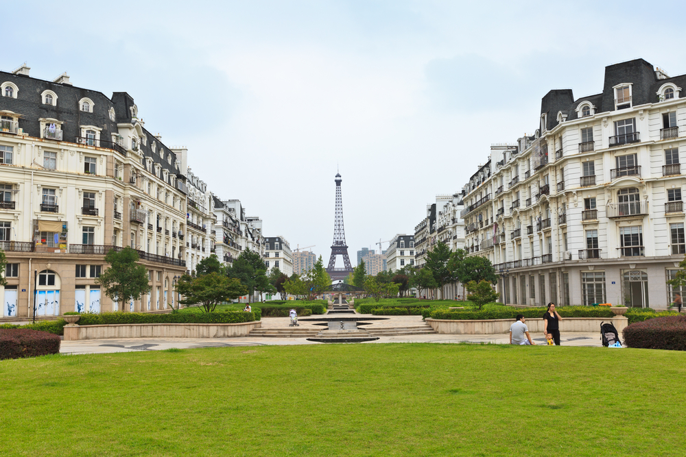 The city of Tianducheng, China, is known as the Chinese Paris and even has its own Eiffel Tower