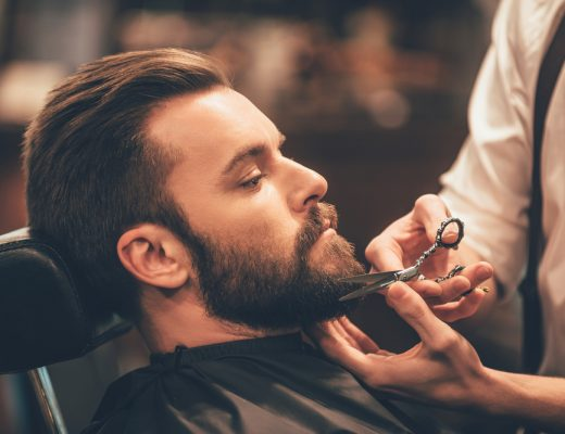 bearded man with beard (science proves beards help maintain healthier skin)