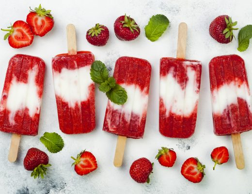summer treat coconut yogurt pops