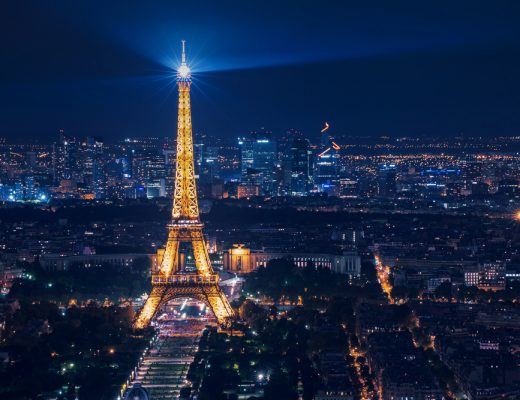 Even though the Eiffel Tower is public domain, it is illegal to photograph it at night because of copyrights