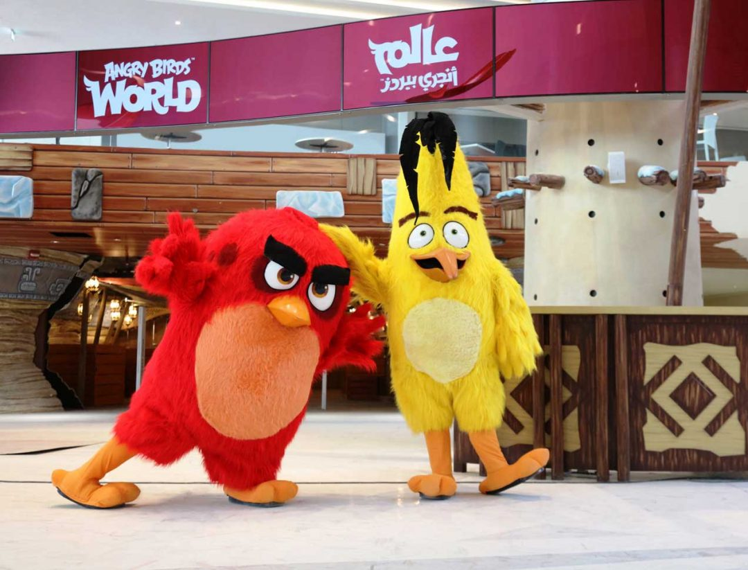 Angry Birds World theme park just opened at Doha Festival City in Qatar