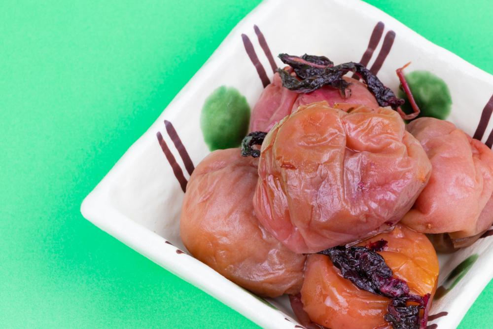umeboshi paste made from Japanese ume plums is a vegan superfood