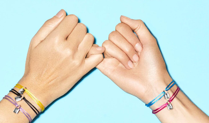 wear these silver lockit bracelet from Louis Vuitton and donate to children in need through UNICEF